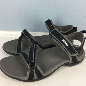 Teva Women's Sport Sandals 5 Black Strappy